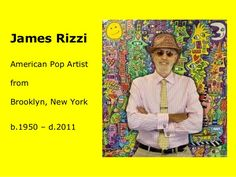 James Rizzi American Pop Artist from Brooklyn, New York – Art Lessons For Kids, Artists For Kids, James Rizzi, 2nd Grade Art, Grade 3, Third Grade, Kindergarten Art Projects, Jr Art, New York Art