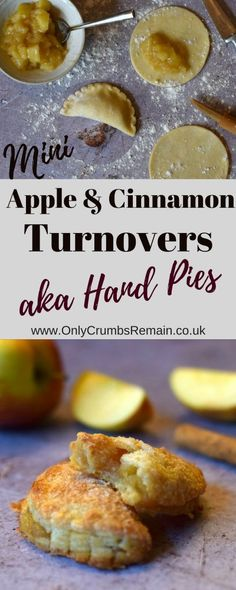 How to make apple & cinnamon turnovers, though you may know them as hand pies or even parels. They're filled with an appleand cinnamon filling thickened with cornflour and encased in an easy cream cheese pastry. Leftovers Recipes, Brunch Recipes, Snack Recipes, Dessert Recipes, Delicious Recipes, Easy Recipes, Yummy Food, Apple Desserts, Apple Recipes