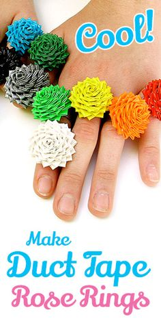 How To Make Duct Tape Rose Rings – COOL!
