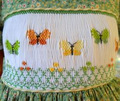 Smocked butterflies