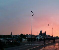 Zonsondergang Oosterdokskade  Foto gemaakt door Deborah van der Vliet