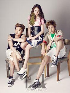 Super Junior's Leeteuk, f(x)'s Krystal & TVXQ!'s U-Know Yunho 1st. Look Korea Magazine