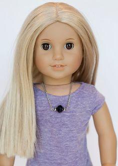 American Girl doll necklace  black and grey by EverydayDollwear, $4.00