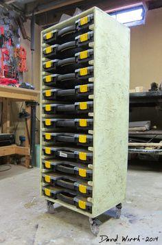 Garage Storage Ideas, Garage Ceiling Storage Ideas, Garage Workbench and Storage Ideas Workshop Storage, Workshop Organization, Home Workshop, Shed Storage, Tool Storage, Garage Storage, Workshop Ideas, Storage Cart, Storage Bins