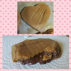 Nutella stuffed peanut butter cookies.
