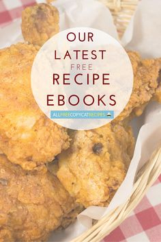 Our collection of our latest free recipe eBooks is so handy. Whether it's eating on a budget, restaurant copycat recipes for entrees, tastefully simple copycat recipes for breakfast, or our favorite dessert recipes, we've got you covered.