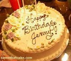 A Rose Birthday Cake Image with your friends name on it can bring