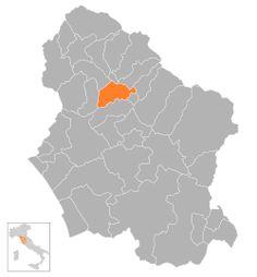 Castelnuovo, en provincia de Luca, región de Toscana. Capital de Garfagnana.
