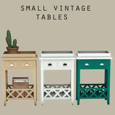 small vintage tables