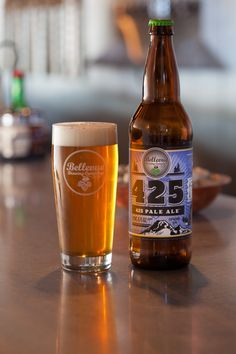 Enjoy a cold glass of beer at Bellevue Brewing Company during the summer months.