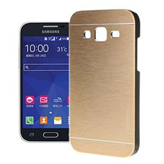 """For Galaxy Grand Prime Case , ivencase New Brushed Hard Rear Skin Protective Case Cover Slim for Samsung Galaxy Grand Prime SM-G530H G5308W + One """"ivencase """" Anti-dust Plug Stopper Gold + One """"ivencase """" Anti-dust Plug Stopper ivencase http://www.amazon.ca/dp/B017UH71UC/ref=cm_sw_r_pi_dp_AV5Fwb18XE37B"""