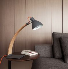 Buy Wooden Frame Modern Curvy Table Lamp | 212Concept