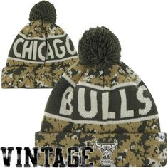 competitive price 01373 065a9  47 Brand Chicago Bulls Digi Pom Cuffed Knit Beanie - Digital Camo