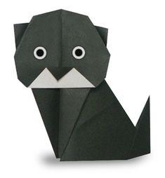 折り紙・黒猫