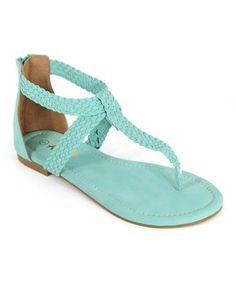 Look what I found on #zulily! Mint Green Braided Vita Sandal #zulilyfinds