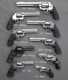 There are two main types of handguns available today, the pistol and the revolver. Women typically purchase pistols rather than revolvers so we are going to begin our discussion with the pistol. Smith And Wesson Revolvers, Smith N Wesson, Weapons Guns, Guns And Ammo, Zombie Weapons, Armas Ninja, Cool Guns, Awesome Guns, Big Guns