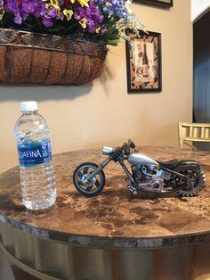 Scrap metal art motorcycle