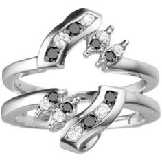 https://ariani-shop.com/black-and-white-diamonds-g-h-i1-12-twist-style-ring-guard-set-in-10k-gold-036-cts-twt Black And White Diamonds (G-H,I1-12) Twist Style Ring Guard set in 10k Gold (0.36 Cts TWT)