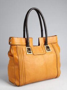 butterscotch leather Tides shoulder bag