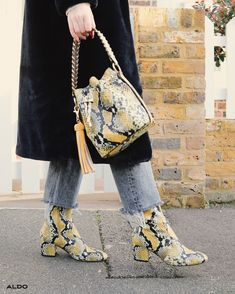 Our favorite combo is a matching combo! Shop new prints and silhouettes like a yellow snakeprint Dororyth now at aldoshoes.com.