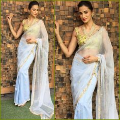 Designer Shilpa Reddy in a Summer friendly Chanderi and Organza Silk pre-stiched Saree from our latest collection 'Tales of Palatial Heirloom'.  #shilpareddystudio #shilpareddy #chanderisilk #saree #handembroidery #indianwear #designerwear #luxuryfashion #summerfashion #summerwedding #talesofpalatialheirloom