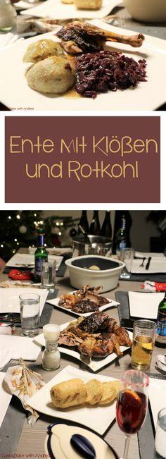 Mein Weihnachtsmenü wurde gekrönt durch meine saftige und zugleich knusprige Ente mit Rotkohl und Klößen! #weihnachten #menü #mehrgangmenü #weihnachtsmenü #hauptgang #ente #zart #saftig #knusprig #rotkohl #klöße #knödel #sauce #foodblog #blog #rezept #candbwithandrea #candbfood