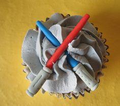 Light sabers Star Wars cupcake topper