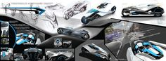 Kvetoslava Kubusova  3x1m  car design billboard  threewheeler aerodynamic concept