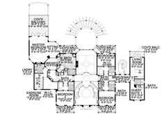 Find your dream italian style house plan such as Plan which is a 6904 sq ft, 5 bed, 7 bath home with 4 garage stalls from Monster House Plans. House Plans Mansion, Luxury House Plans, Dream House Plans, House Floor Plans, Mountain House Plans, Family House Plans, Mediterranean Style Homes, Spanish Style Homes, Mansion Designs