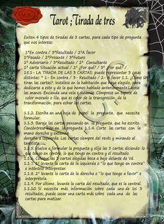Trastos de Bruja: Tirada de Tres Tarot Card Spreads, Tarot Cards, Occult Science, Tarot Meanings, Sign Quotes, Wicca, Samara, Chakras, Witches