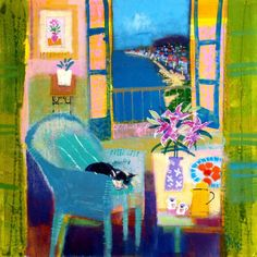 Limited edition fine art giclee print of Nice by renowned Scottish Artist, Francis Boag. Artist Painting, Figure Painting, Acrylic Painting Inspiration, Art And Architecture, Modern Art, Pop Art, Abstract Art, Morning Coffee, Lettuce