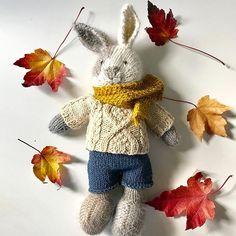 It's fall! Time to keep your buns warm! #littlecottonrabbits #amigurumi #knitting #knitstagram #holidayknitting