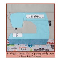 Sewing Machine Paper Pieced Pattern por DuringQuietTime en Etsy