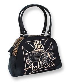 Hot Rod Hell Cat Norcal Rockabilly Leopard handbag. http://www.ebay.co.uk/itm/HOTROD-HELLCAT-NOR-CAL-BOWLING-BAG-LEOPARD-ROCKABILLY-TATTOO-PUNK-DRAGSTRIP-NEW-/330875111495?pt=UK_Women_s_Handbags=item4d09b18847