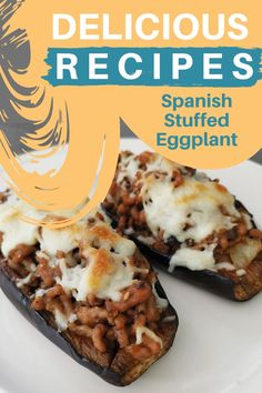 Spanish Stuffed Eggplant Recipe (Berenjenas Rellenas) Are you craving for something Spanish and easy? Try out this Spanish stuffed eggplant or Berenjenas Rellenas recipe. Spanish Kitchen, Spanish Cuisine, Spanish Food, Stuffed Eggplant Vegetarian, Eggplant Recipes, Best Dishes, Home Recipes, Relleno, Love Food