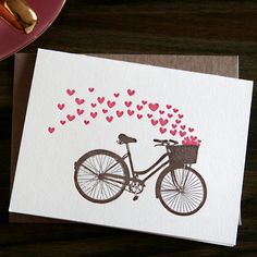 Love this vintage bicycle card.