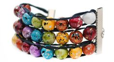 These counting beads work like an abacus to help you keep track of your progress. Doubles as a beautiful bracelet!