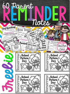 Parent Reminder Notes FREEBIE!