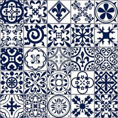 Vector Illustration of Moroccan tiles Seamless Pattern for Design, Website, Background, Banner.Spanish element for Wallpaper, Ceramic or Textile. Middle Ages Ornament Texture Template. White and Blue