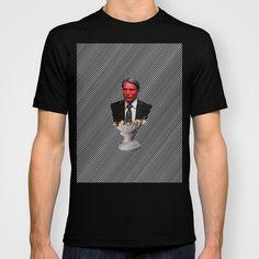 Will Vision T-shirt  #hannibal #hanniballecter #lecter #willgraham #will #fanart #fandom #tv #telivision #popart #minimal #bust #murderer #horror #scary #thisismydesign #moster #stripes #society6 #richcaspian #shirt #tshirt #tee #fashion #style #unisex #fannibal #clothing
