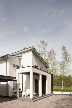 Kivitalon sisäänkäynti tyylikkäällä katoksella, lisää ideoita www.lammi-kivitalot.fi