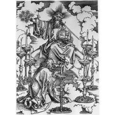 Vision of the Seven Candlesticks Albrecht Durer (1471-1528 German) Engraving Canvas Art - Albrecht Durer (18 x 24)