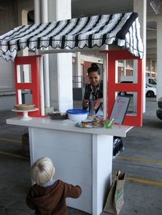 cute food stand