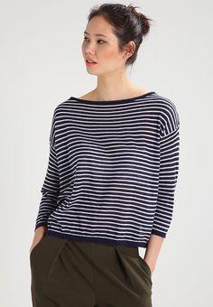 Neule - navy blue Navy Blue, Tops, Women, Fashion, Moda, Fashion Styles, Fashion Illustrations, Woman