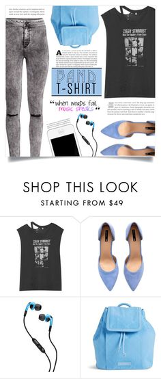 """""""I'm With the Band"""" by dolly-valkyrie ❤ liked on Polyvore featuring R13, H&M, Skullcandy, Vera Bradley, bandtshirt and bandtee"""