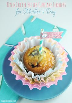 Coffee Filter Cupcake Flowers by Club Chica Circle