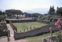 The ancient Roman Gladiator School of Pompeii, Italy, used up until the explosion of Mt. Vesuvius in 79 AD.  Photo courtesy & taken byJon McL.