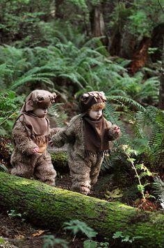 They're dressed up as Ewoks!! Eeeeeek!!!!