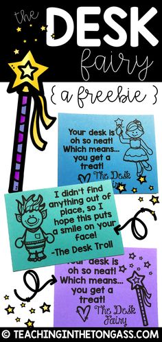 Desk Fairy slips are such an easy way to help students keep their desks organized!