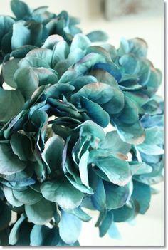 紫陽花造花ターコイズブルー/造花アートフラワーアジサイ